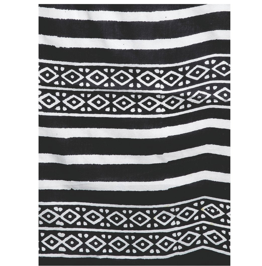 Black & White Hand Block Print Handcrafted Cotton Saree-Saree-Kalakari India-RDSWSA0094-Chanderi, Geographical Indication, Hand Blocks, Hand Crafted, Heritage Prints, Sarees, Sustainable Fabrics-[Linen,Ethnic,wear,Fashionista,Handloom,Handicraft,Indigo,blockprint,block,print,Cotton,Chanderi,Blue, latest,classy,party,bollywood,trendy,summer,style,traditional,formal,elegant,unique,style,hand,block,print, dabu,booti,gift,present,glamorous,affordable,collectible,Sari,Saree,printed, holi, Diwali, bir