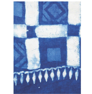 Blue & White Indigo Hand Block Print Handcrafted Cotton Saree-Saree-Kalakari India-RDSWSA0095-Cotton, Geographical Indication, Hand Blocks, Hand Crafted, Heritage Prints, Indigo, Sarees, Sustainable Fabrics-[Linen,Ethnic,wear,Fashionista,Handloom,Handicraft,Indigo,blockprint,block,print,Cotton,Chanderi,Blue, latest,classy,party,bollywood,trendy,summer,style,traditional,formal,elegant,unique,style,hand,block,print, dabu,booti,gift,present,glamorous,affordable,collectible,Sari,Saree,printed, holi,