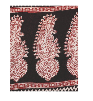 Kalakari India Black Bagh Handblock Print Handcrafted Cotton Saree-Saree-Kalakari India-ZIBASA0019-Bagh, Cotton, Geographical Indication, Hand Blocks, Hand Crafted, Heritage Prints, Natural Dyes, Sarees, Sustainable Fabrics-[Linen,Ethnic,wear,Fashionista,Handloom,Handicraft,Indigo,blockprint,block,print,Cotton,Chanderi,Blue, latest,classy,party,bollywood,trendy,summer,style,traditional,formal,elegant,unique,style,hand,block,print, dabu,booti,gift,present,glamorous,affordable,collectible,Sari,Sar