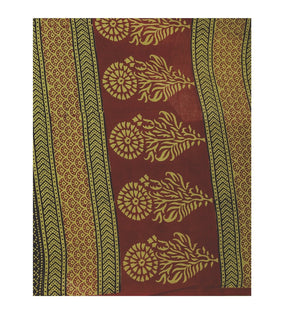 Kalakari India Green Bagh Hand block Print Handcrafted Cotton Saree-Saree-Kalakari India-ZIBASA0023-Bagh, Cotton, Geographical Indication, Hand Blocks, Hand Crafted, Heritage Prints, Natural Dyes, Sarees, Sustainable Fabrics-[Linen,Ethnic,wear,Fashionista,Handloom,Handicraft,Indigo,blockprint,block,print,Cotton,Chanderi,Blue, latest,classy,party,bollywood,trendy,summer,style,traditional,formal,elegant,unique,style,hand,block,print, dabu,booti,gift,present,glamorous,affordable,collectible,Sari,Sa