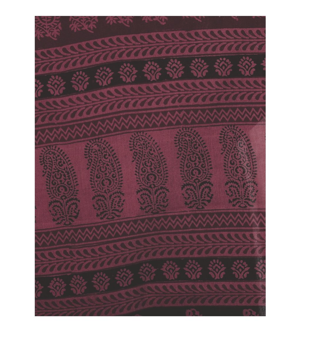 Maroon & Black Cotton Hand Block Bagh Print Handcrafted Saree-Saree-Kalakari India-ZIBASA0035-Bagh, Cotton, Geographical Indication, Hand Blocks, Hand Crafted, Heritage Prints, Natural Dyes, Sarees, Sustainable Fabrics-[Linen,Ethnic,wear,Fashionista,Handloom,Handicraft,Indigo,blockprint,block,print,Cotton,Chanderi,Blue, latest,classy,party,bollywood,trendy,summer,style,traditional,formal,elegant,unique,style,hand,block,print, dabu,booti,gift,present,glamorous,affordable,collectible,Sari,Saree,pr