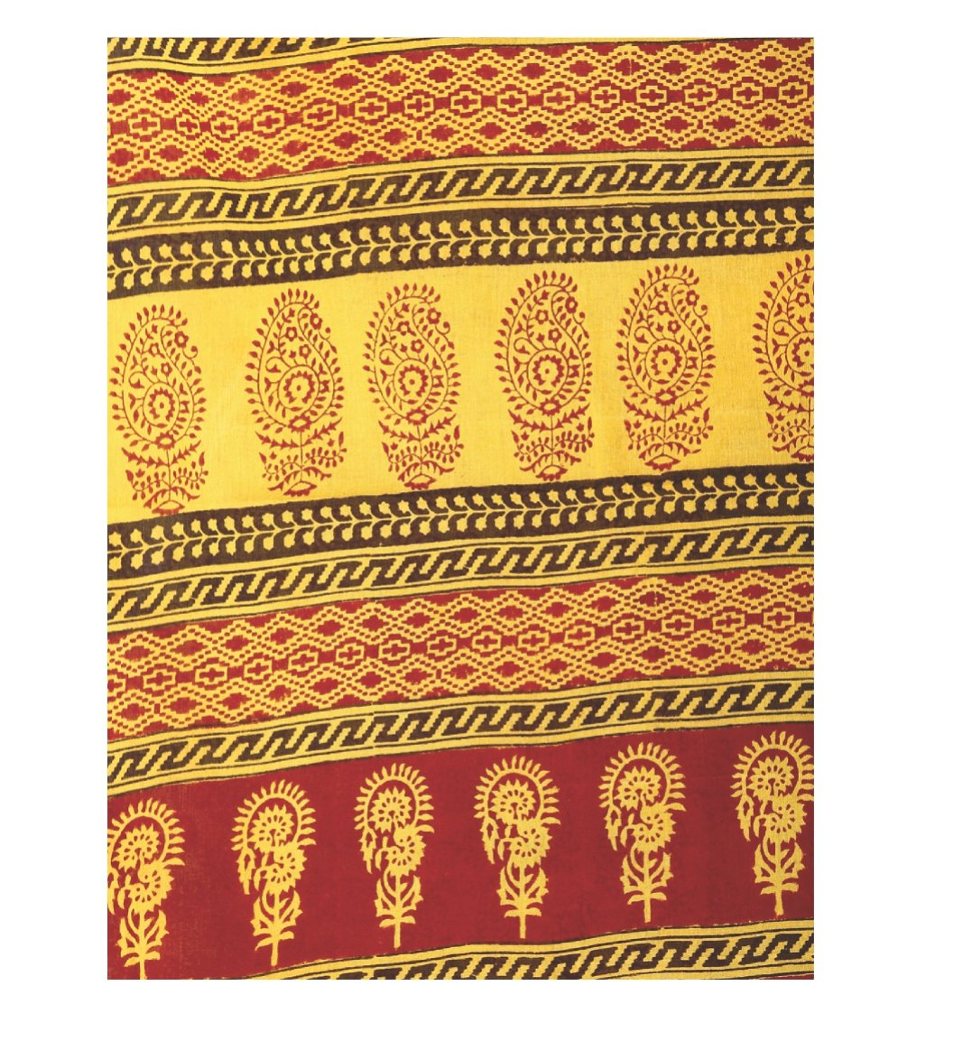 Yellow Cotton Hand Block Bagh Print Handcrafted Saree-Saree-Kalakari India-ZIBASA0037-Bagh, Cotton, Geographical Indication, Hand Blocks, Hand Crafted, Heritage Prints, Natural Dyes, Sarees, Sustainable Fabrics-[Linen,Ethnic,wear,Fashionista,Handloom,Handicraft,Indigo,blockprint,block,print,Cotton,Chanderi,Blue, latest,classy,party,bollywood,trendy,summer,style,traditional,formal,elegant,unique,style,hand,block,print, dabu,booti,gift,present,glamorous,affordable,collectible,Sari,Saree,printed, h