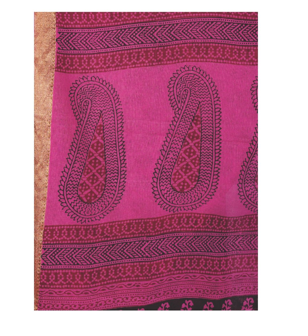 Magenta Cotton Hand Block Bagh Print Handcrafted Saree-Saree-Kalakari India-ZIBASA0047-Bagh, Cotton, Geographical Indication, Hand Blocks, Hand Crafted, Heritage Prints, Natural Dyes, Sarees, Sustainable Fabrics-[Linen,Ethnic,wear,Fashionista,Handloom,Handicraft,Indigo,blockprint,block,print,Cotton,Chanderi,Blue, latest,classy,party,bollywood,trendy,summer,style,traditional,formal,elegant,unique,style,hand,block,print, dabu,booti,gift,present,glamorous,affordable,collectible,Sari,Saree,printed,