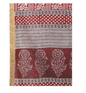 Pink Cotton Hand Block Bagh Print Handcrafted Saree-Saree-Kalakari India-ZIBASA0050-Bagh, Cotton, Geographical Indication, Hand Blocks, Hand Crafted, Heritage Prints, Natural Dyes, Sarees, Sustainable Fabrics-[Linen,Ethnic,wear,Fashionista,Handloom,Handicraft,Indigo,blockprint,block,print,Cotton,Chanderi,Blue, latest,classy,party,bollywood,trendy,summer,style,traditional,formal,elegant,unique,style,hand,block,print, dabu,booti,gift,present,glamorous,affordable,collectible,Sari,Saree,printed, hol