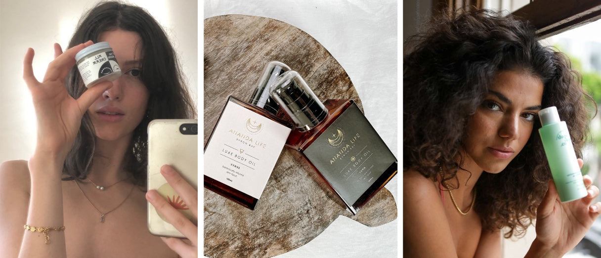 Collection of vegan beauty brands