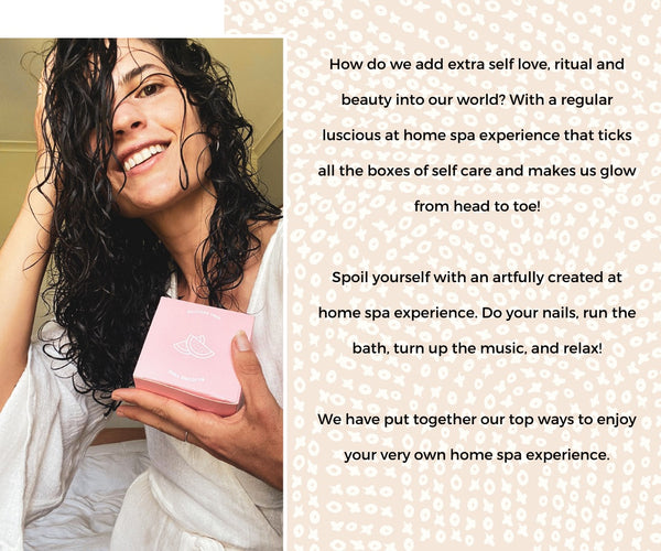 Malia hair and self love rituals for an at home spa experience