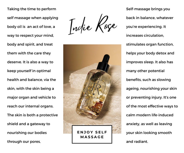 Indie Rose Massage Oil For Self Care