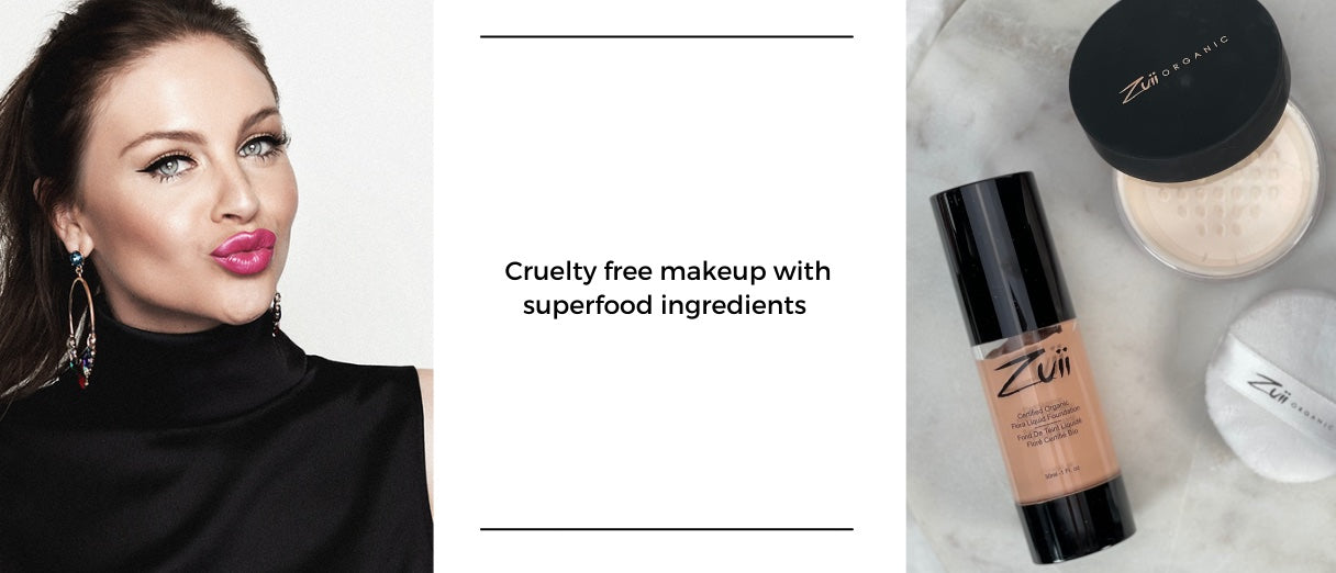 Cruelty free makeup on models