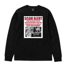 "Load image into Gallery viewer, ""Charlie Da Scammer"" Long Sleeve Shirt in Black or White"