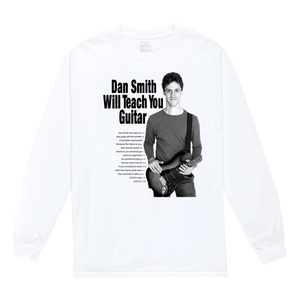 """Dan Smith Will Teach You Guitar"" Long Sleeve Shirt in Black or White"