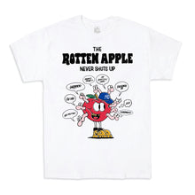 "Load image into Gallery viewer, ""The Rotten Apple"" T-Shirt in Black or White"