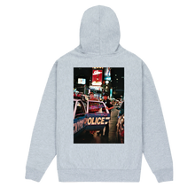 "Load image into Gallery viewer, ""Tiger Hood - Tough Town for a Clown"" Hoodie in Black, White & Grey"