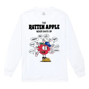 """The Rotten Apple"" Long Sleeve Shirt in Black or White"