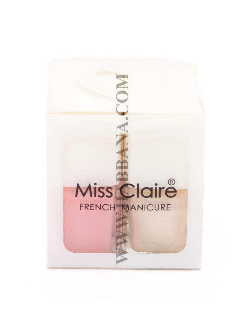 Miss Claire French Manicure Nail Set (4 in 1)
