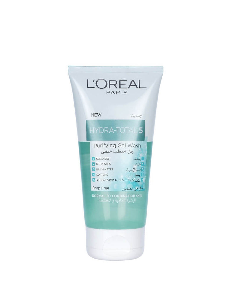 Loreal Paris Hydra Total 5 Purifying Gel Face Wash For Normal And Combination Skin (150Ml)