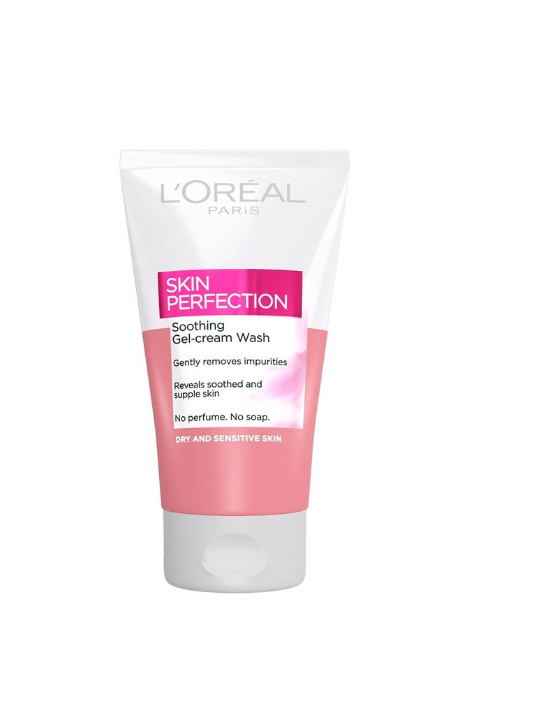Loreal Skin Perfection Soothing Gel-Cream Wash For Dry & Sensitive Skin (150Ml)