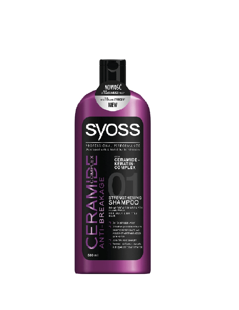 Syoss Ceramide Anti-Breakage Strengthening Shampoo (500Ml)