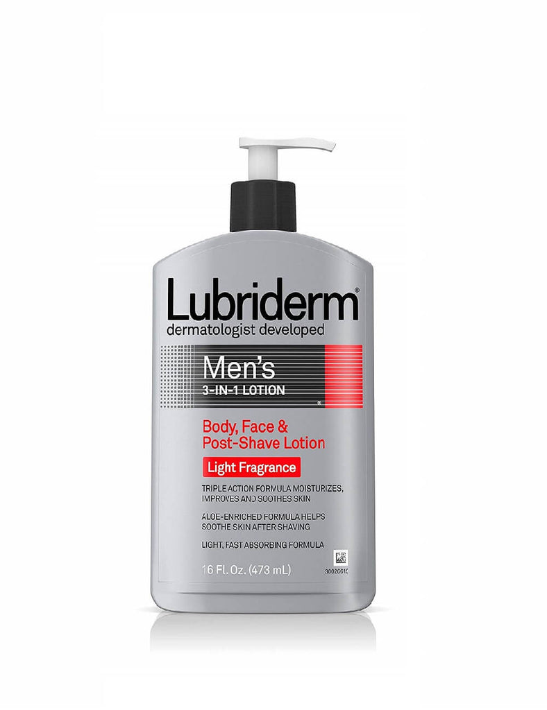 Lubriderm Men's 3-In-1 Body Lotion With Light Fragrance (473Ml)