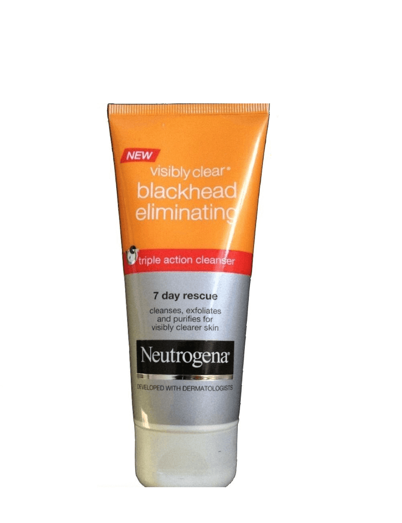 Neutrogena Visibly Clear Blackhead Eliminating 7 Day Recsue Triple Action Cleanser (100Ml)