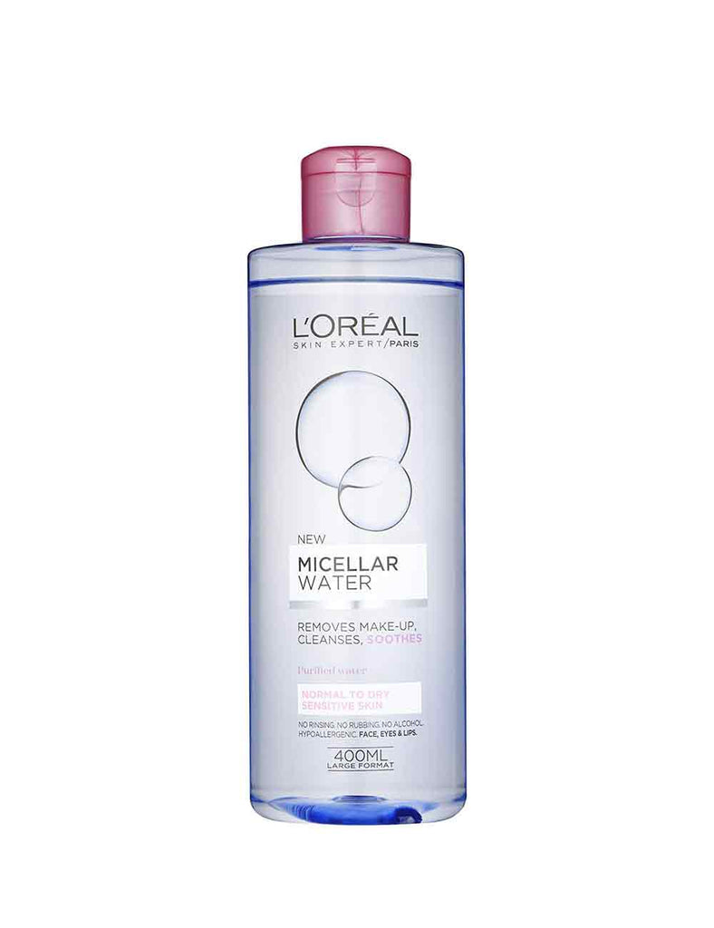 Loreal Paris Micellar Water Normal To Dry Sensitive Skin (400Ml)