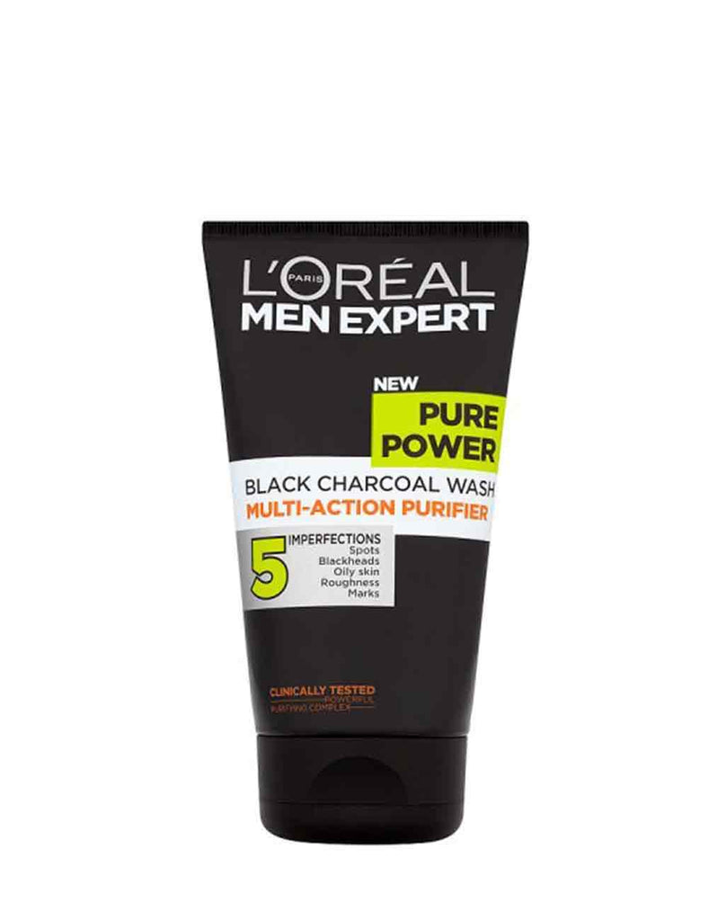 Loreal Paris Men Expert Pure Power Black Charcoal Wash (150Ml)