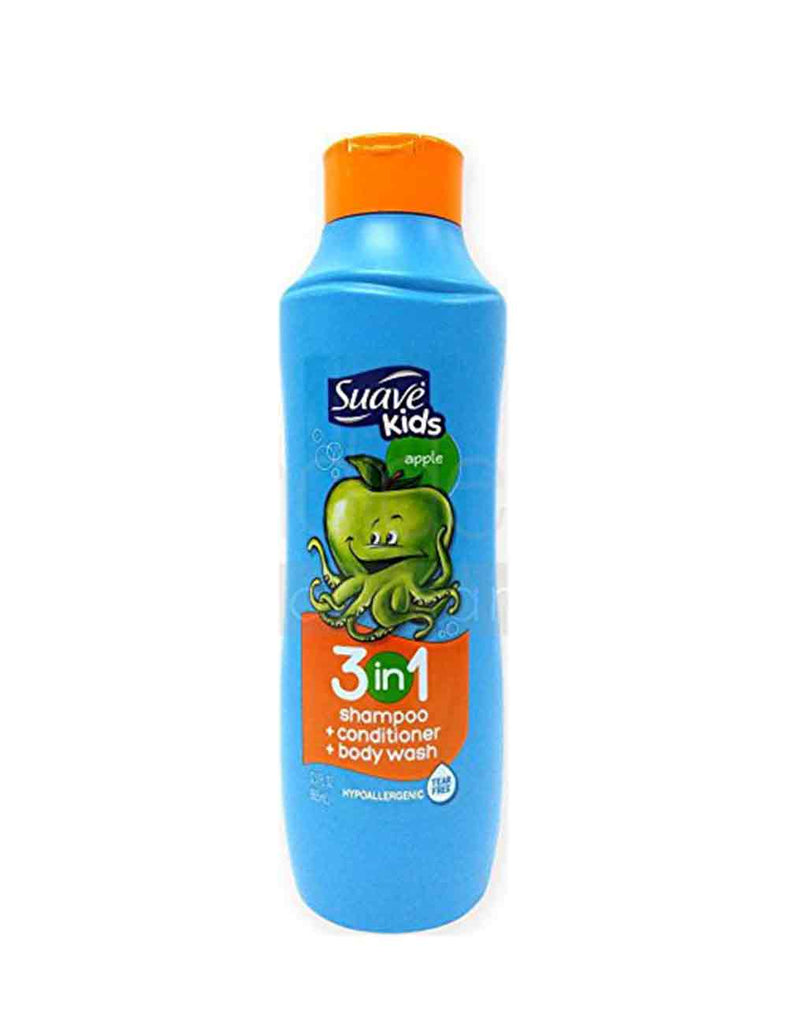 Suave Kids Apple 3In1 Shampoo+Conditioner+Body Wash (665Ml)