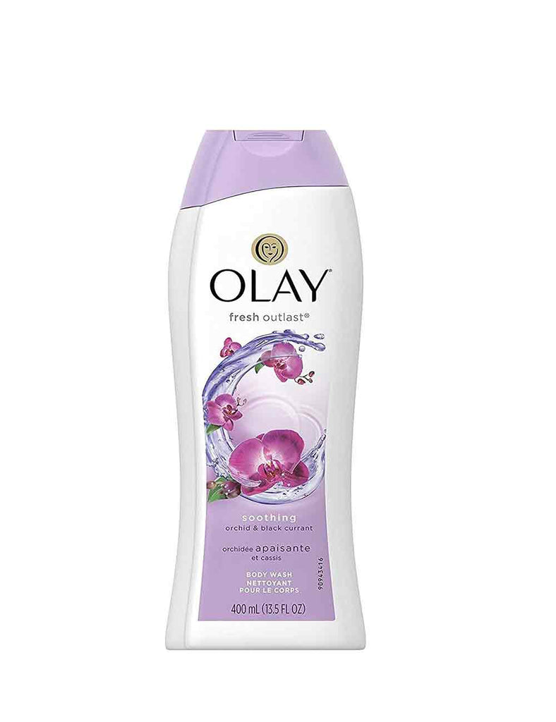 Olay Fresh Outlast Soothing Orchid And Black Currant Body Wash (400Ml)