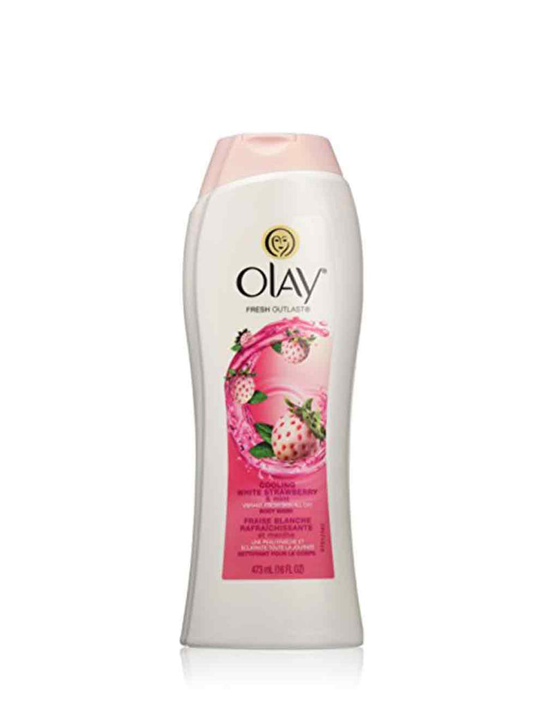 Olay Cooling White Strawberry & Mint Body Wash (473Ml)