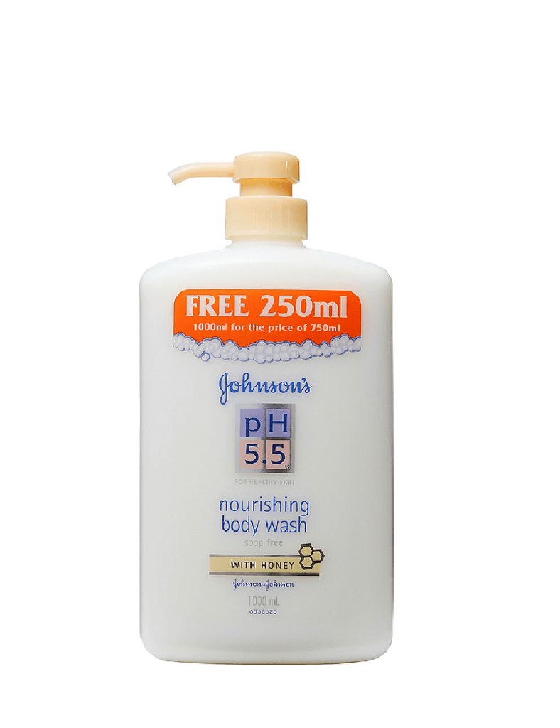 Johnsons Ph 5.5 For Healthy Skin Body Wash With Honey (1000Ml)