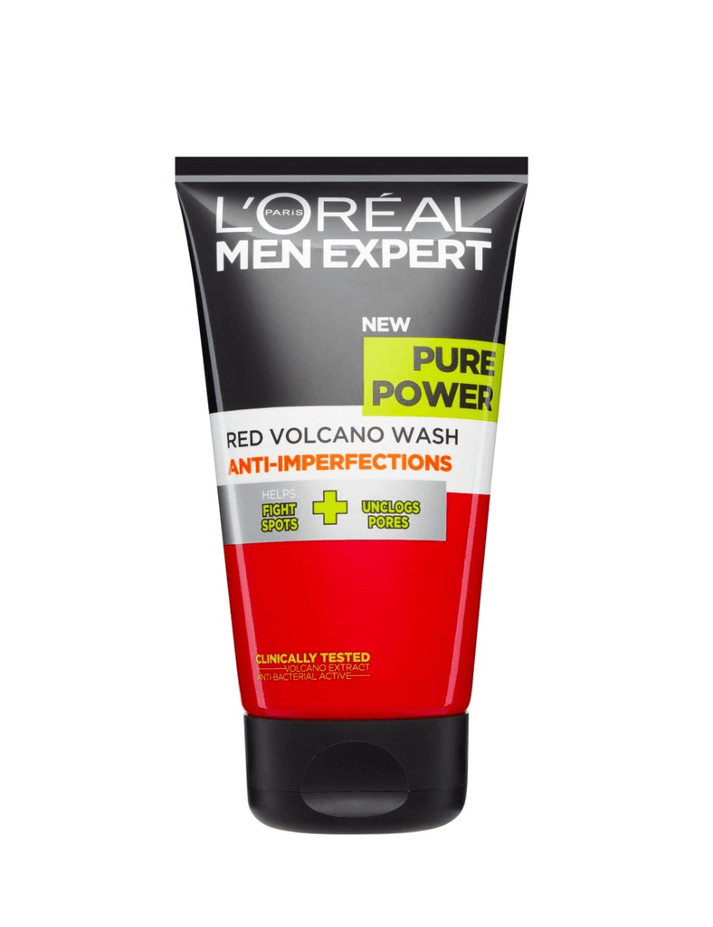 Loreal Men Expert Pure Power Red Volcano Wash Anti Imperfections (150Ml)