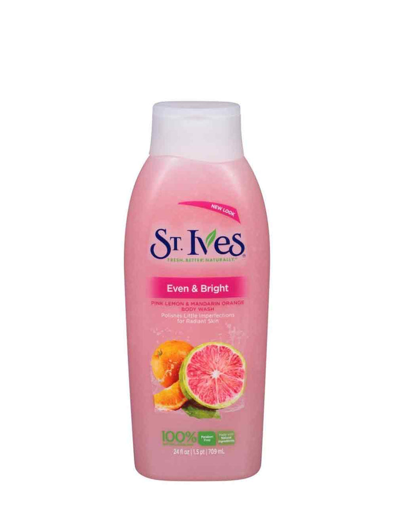 St. Ives Even And Bright Body Wash Pink Lemon And Mandarin Orange (709Ml)