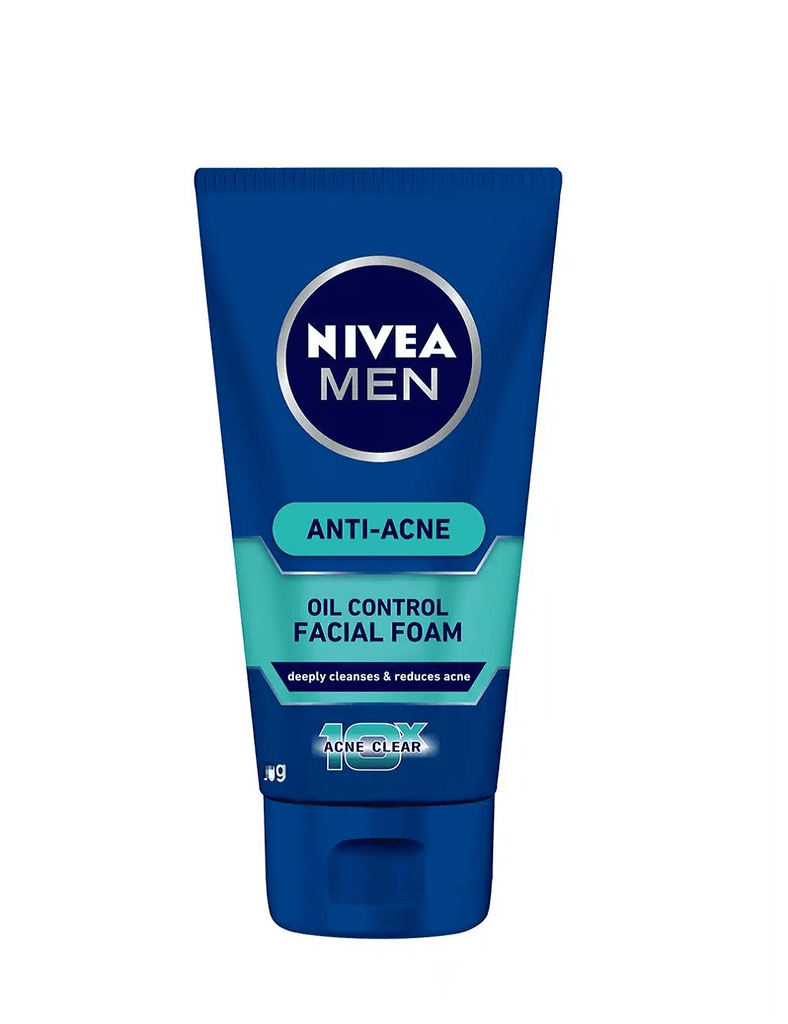 Nivea Men Anti-Acne Oil Control Facial Foam 10Xacne Clear (100G)