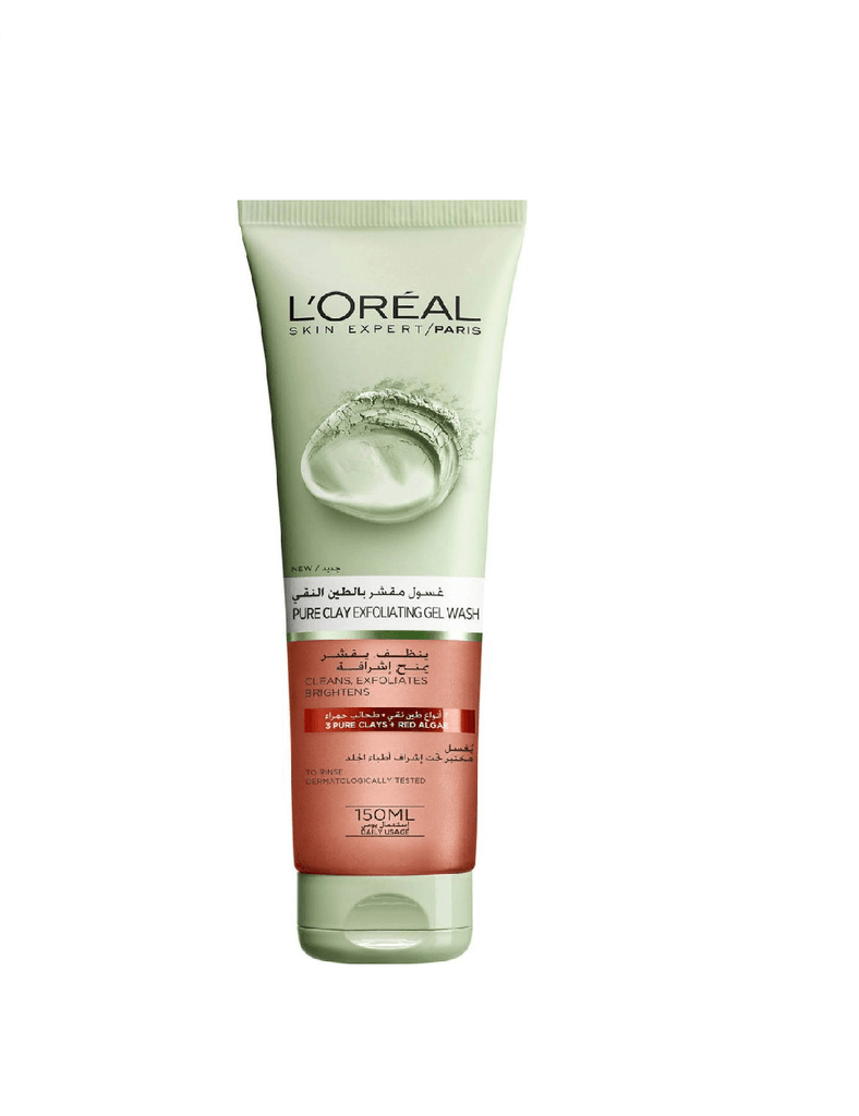 Loreal Paris Pure Clay Red Face Cleanser With Red Algae, Exfoliates And Brightens (150Ml)