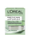 Loreal Paris Pure Clay Green Face Mask - Eucalyptus, Purifies And Mattifies (50Ml)
