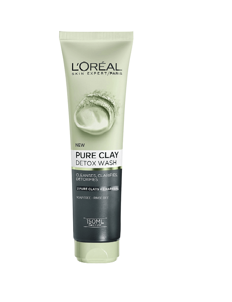 Loreal Paris Pure Clay Detox Wash Black Face Wash (150Ml)