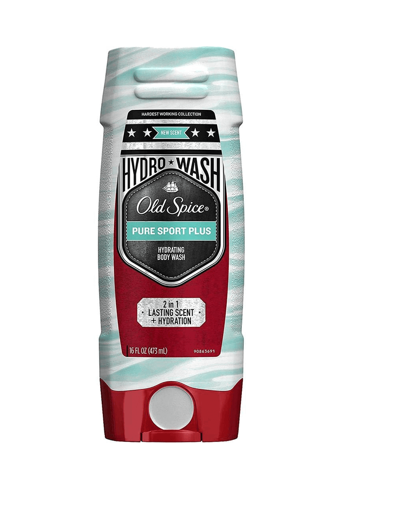 Old Spice Hydro Wash Body Wash Hardest Working Collection Pure Sport Plus (473Ml)