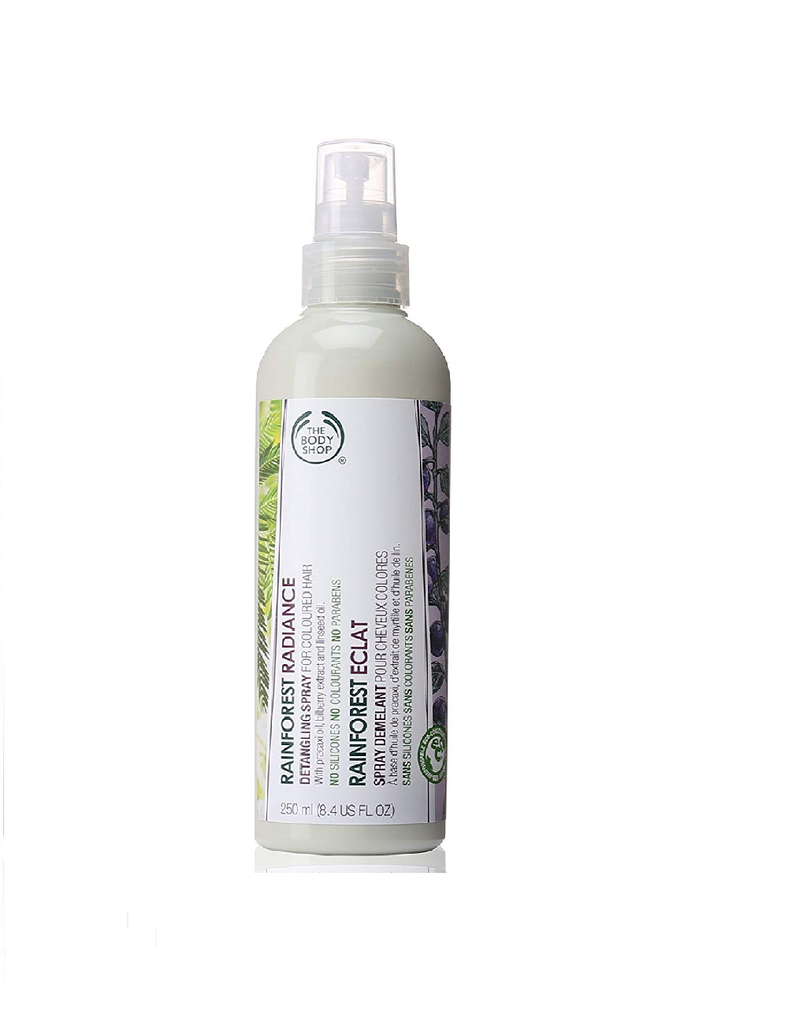 The Body Shop Rainforest Radiance Detangling Spray Regular For Color Hair (250Ml)