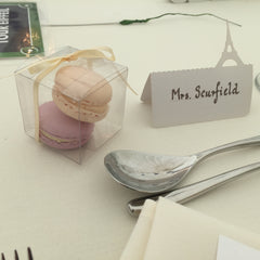 wedding favour macarons