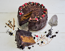 Load image into Gallery viewer, Chocolate and Salted Caramel Cake