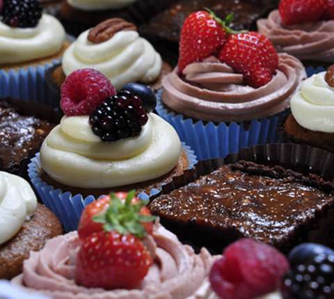 Party box choose from a selection of delicious cakes by Gosh Hove