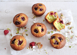 PISTACHIO AND RASPBERRY FRIANDS BY GOSH