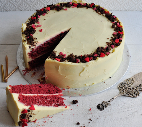 Beautifully moist red velvet cake by Gosh of Hove