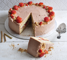 Load image into Gallery viewer, Champagne strawberry celebration cake