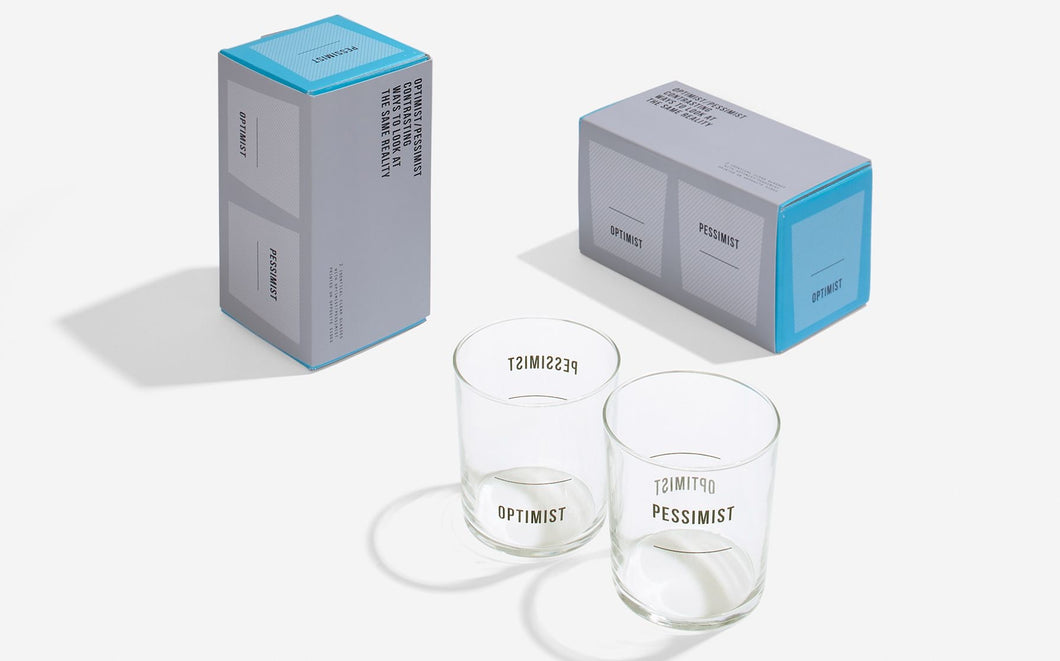 The School of Life - Optimist/Pessimist Glasses