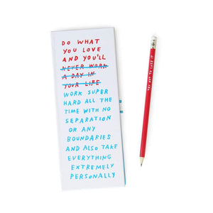 Blocco Note Work/Life Balance di Adam JK