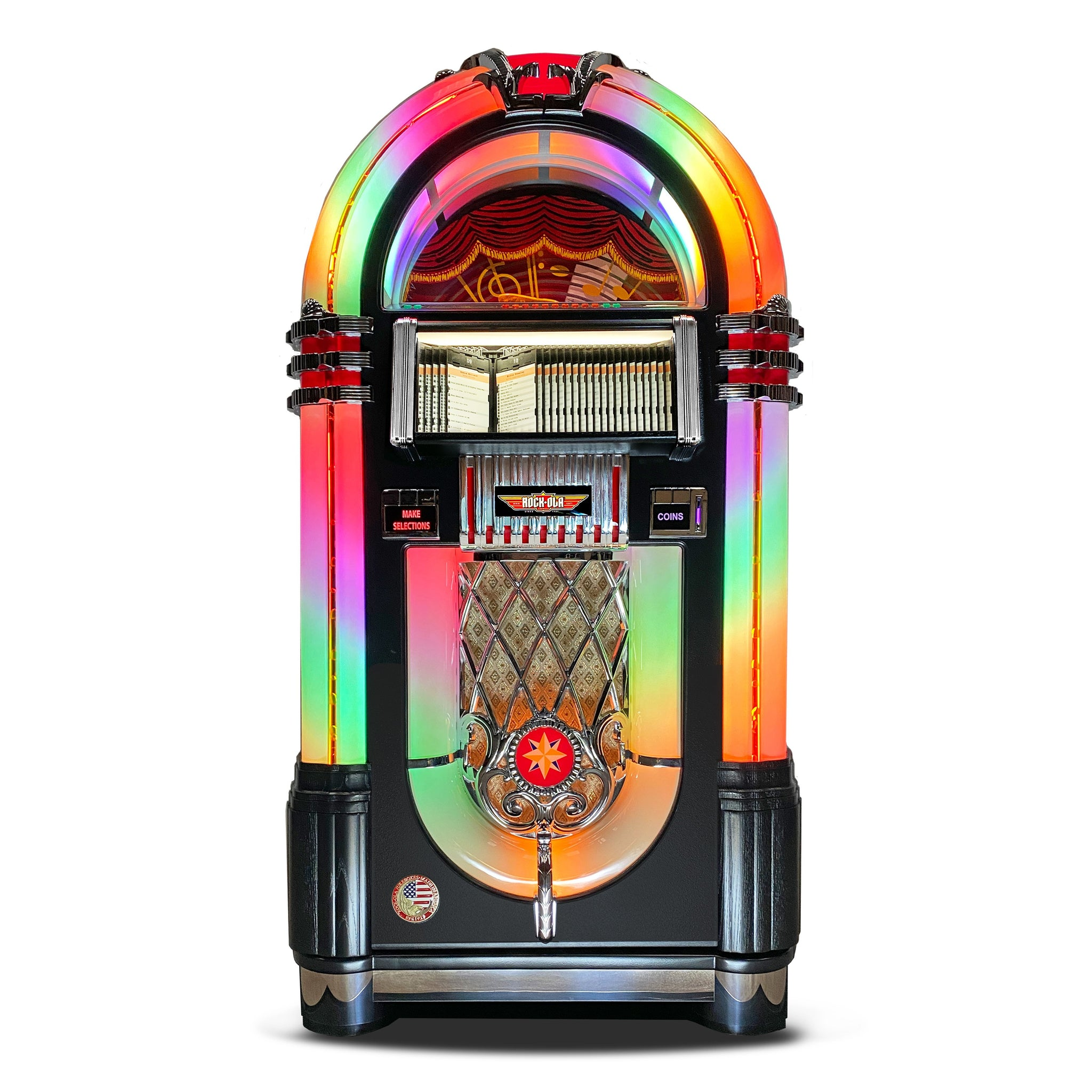 Rock-Ola Bubbler CD Jukebox in Black