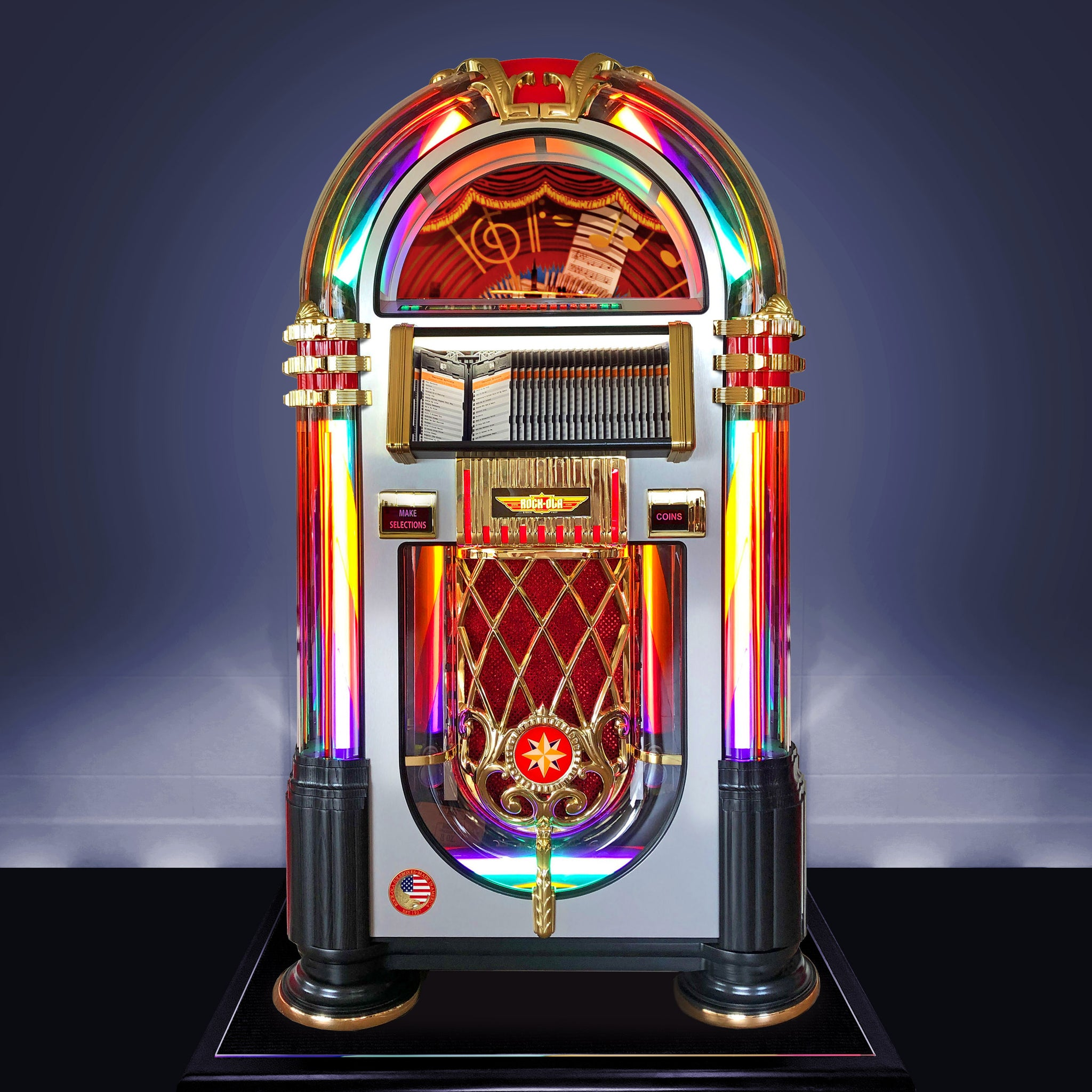 'New' Rock-Ola Bubbler CD Jukebox Crystal Edition