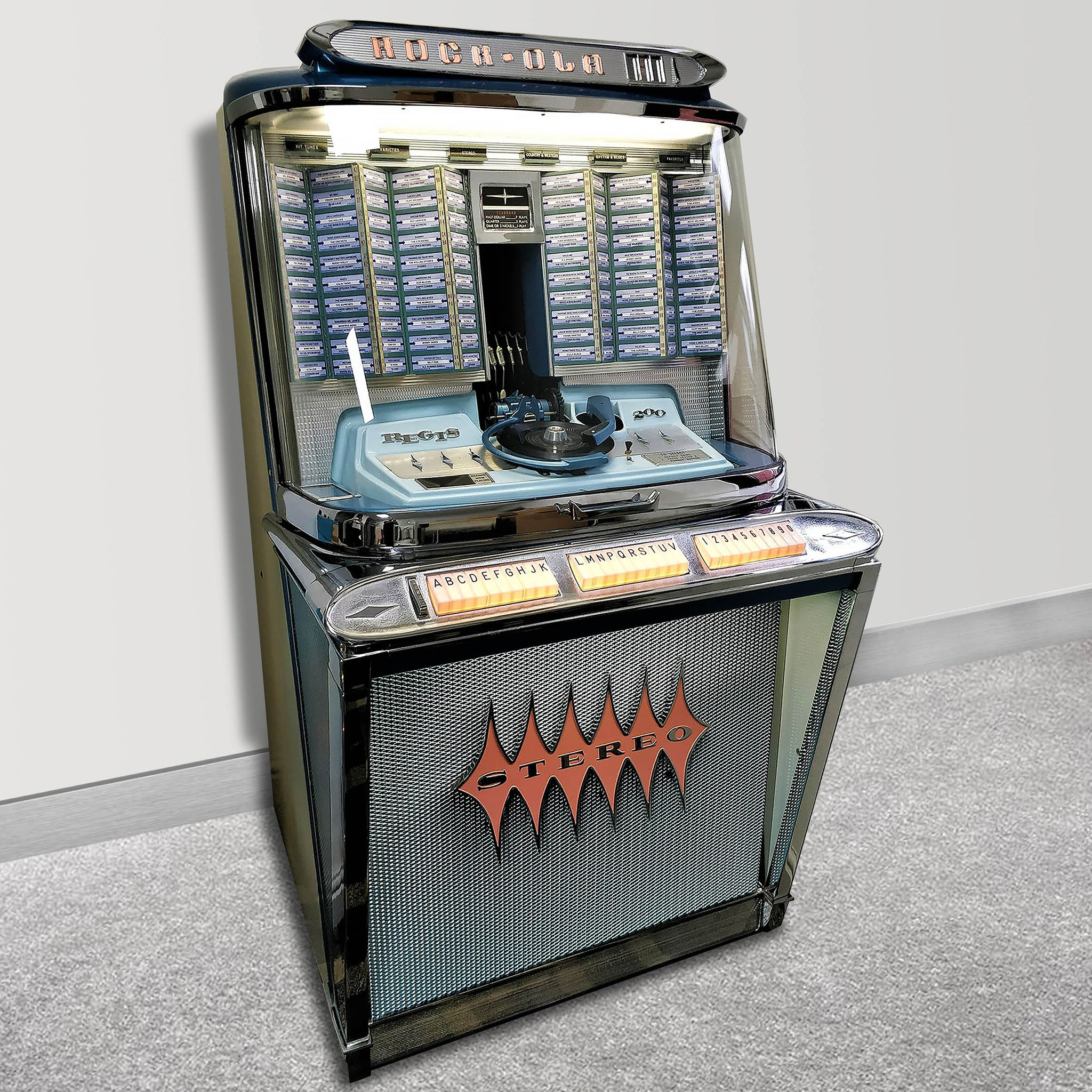The 1961 Rock Ola Regis 200 selection Jukebox