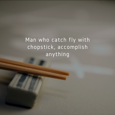 The Karate Kid Man Who Catch Chopstick with Fly Accomplish Anything Miyagi Quote