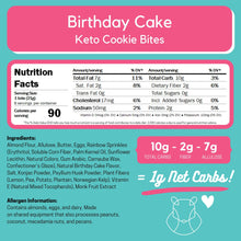 Load image into Gallery viewer, Birthday Cake Keto Cookie Bites ChipMonk Baking